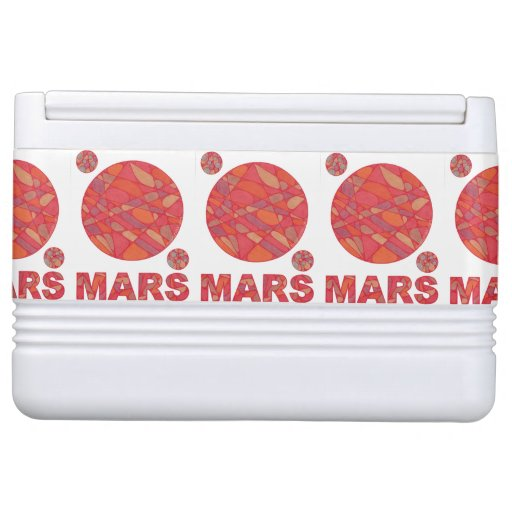 Mars The Red Planet Geek Chic Fun Beach Picnic Igloo Cooler