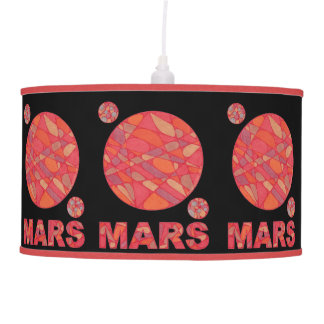 Mars The Red Planet Geek Chic Pendant Light Pendant Lamps