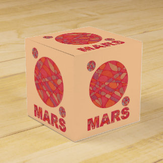 Mars The Red Planet Geeky Fun Party Favor Boxes