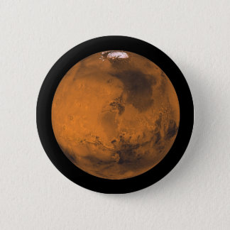 Mars the Red Planet in Outer Space 2 Inch Round Button