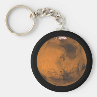 Mars the Red Planet in Outer Space Keychain