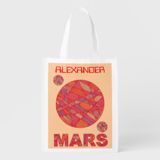Mars The Red Planet Personalized Geek Reusable Bag Reusable Grocery Bag