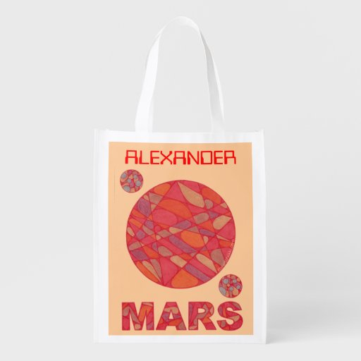 Mars The Red Planet Personalized Geek Reusable Bag Market Totes
