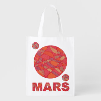 Mars The Red Planet Phobos And Deimos Eco Friendly Market Totes