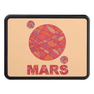 Mars The Red Planet Phobos And Deimos Hitch Cover