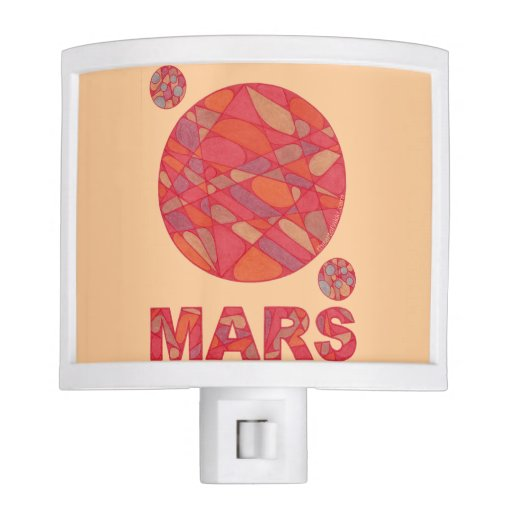 Mars The Red Planet Phobos And Deimos Night Light