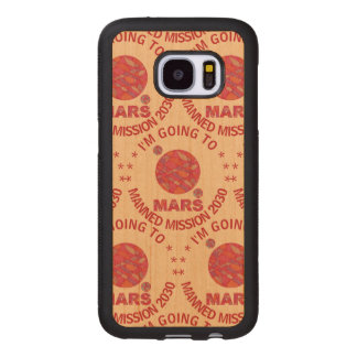 Mars The Red Planet SamsungGalaxyS7 Space Geek Wood Samsung Galaxy S7 Case