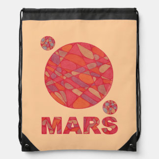 Mars The Red Planet Space Geek Drawstring Backpack