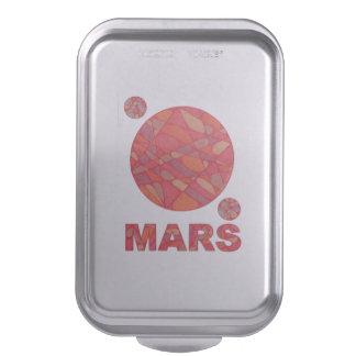 Mars The Red Planet Space Geek Fun Party Baking Pan