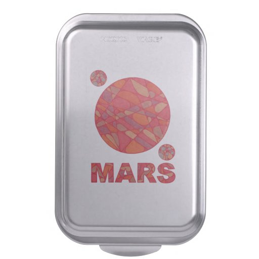 Mars The Red Planet Space Geek Fun Party Cake Pan