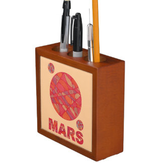 Mars The Red Planet Space Geek Pen Caddy Pencil/Pen Holder
