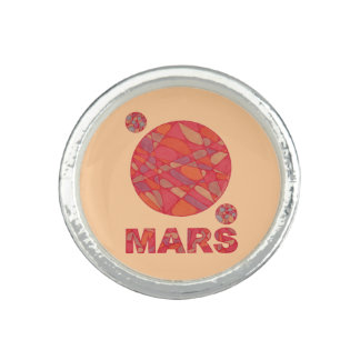 Mars The Red Planet Space Geek Ring Jewelry Custom