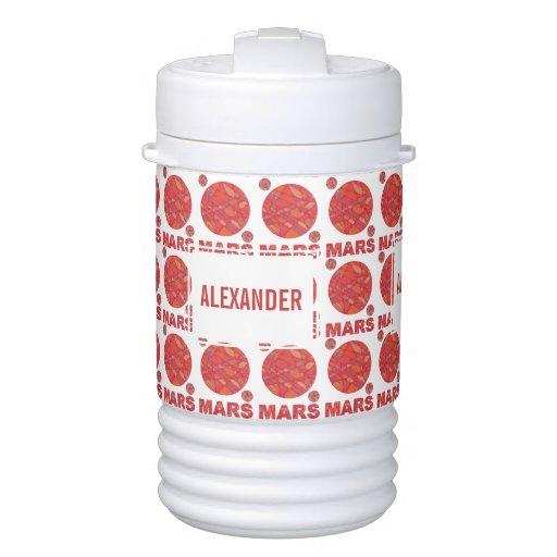 Mars The Red Planet Space Geek Science Nerd Custom Igloo Beverage Cooler