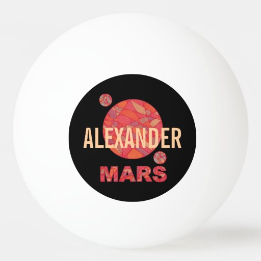 Mars The Red Planet Space Geek Solar System Custom Ping-Pong Ball