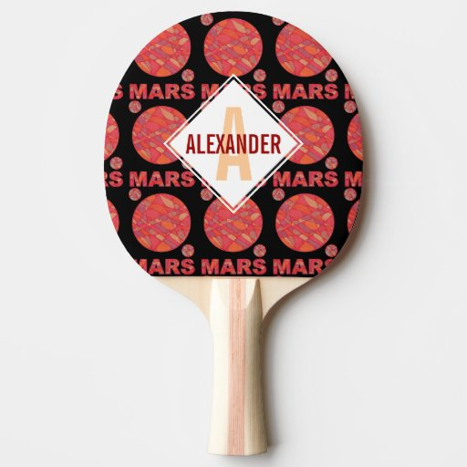 Mars The Red Planet Space Geek Solar System Custom Ping Pong Paddle