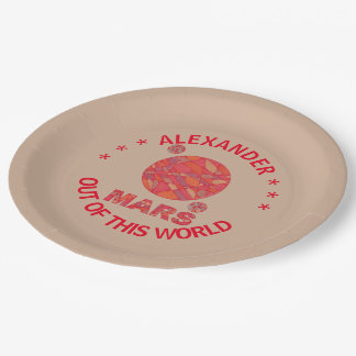 Mars The Red Planet Space Geek Solar System Fun 9 Inch Paper Plate