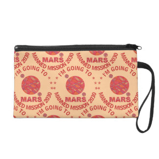 Mars The Red Planet Space Geek Solar System Fun Wristlets