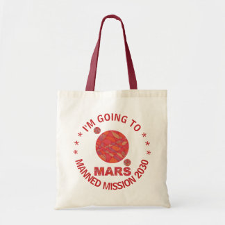 Mars The Red Planet Space Geek Solar System Fun Budget Tote Bag