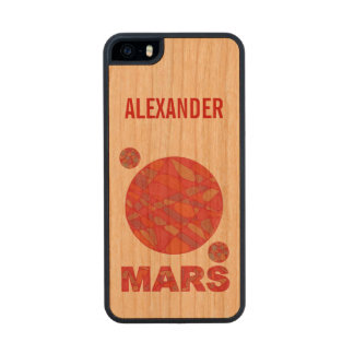 Mars The Red Planet Space Geek Solar System Fun Carved® Cherry iPhone 5 Case