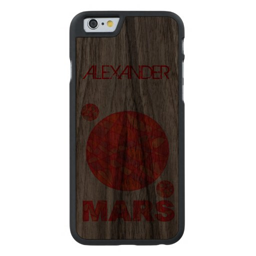Mars The Red Planet Space Geek Solar System Fun Carved® Walnut iPhone 6 Case