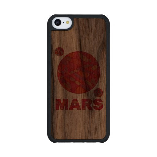 Mars The Red Planet Space Geek Solar System Fun Carved® Walnut iPhone 5C Case