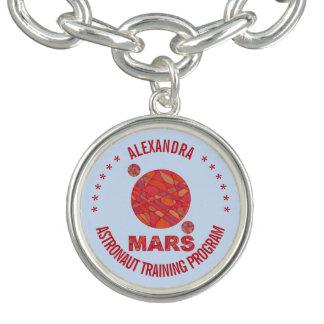 Mars The Red Planet Space Geek Solar System Fun Charm Bracelet