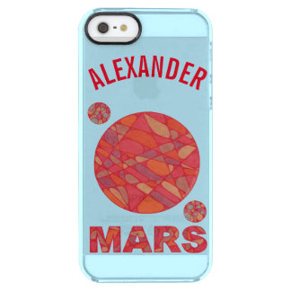 Mars The Red Planet Space Geek Solar System Fun Clear iPhone SE/5/5s Case
