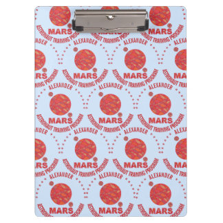 Mars The Red Planet Space Geek Solar System Fun Clipboards
