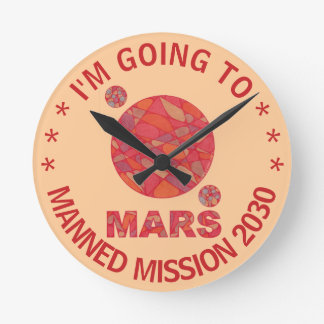 Mars The Red Planet Space Geek Solar System Fun Wallclock