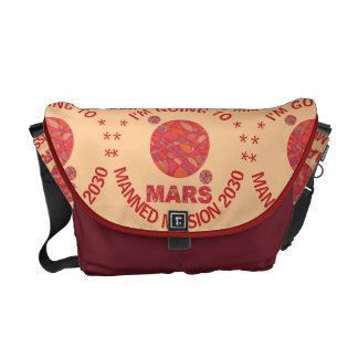 Mars The Red Planet Space Geek Solar System Fun Courier Bag