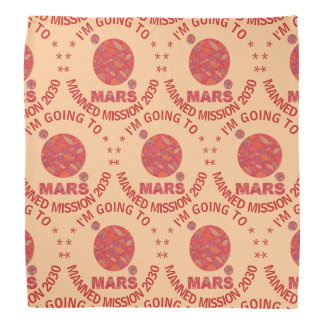 Mars The Red Planet Space Geek Solar System Fun Cu Bandana