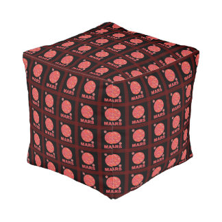 Mars The Red Planet Space Geek Solar System Fun Cube Pouf