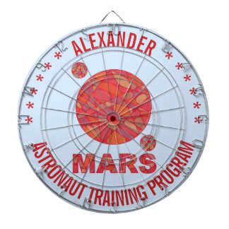 Mars The Red Planet Space Geek Solar System Fun Dart Boards