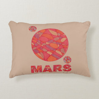 Mars The Red Planet Space Geek Solar System Fun Decorative Pillow