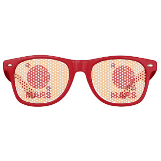 Mars The Red Planet Space Geek Solar System Fun Party Sunglasses