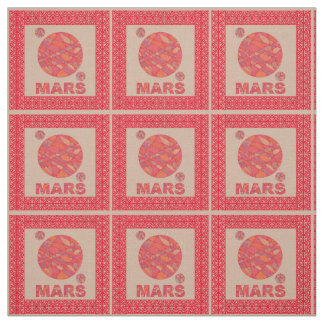 Mars The Red Planet Space Geek Solar System Fun Fabric