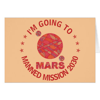 Mars The Red Planet Space Geek Solar System Fun Greeting Card