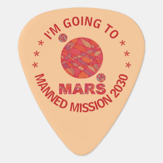 Mars The Red Planet Space Geek Solar System Fun Guitar Pick