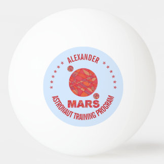 Mars The Red Planet Space Geek Solar System Fun Ping Pong Ball