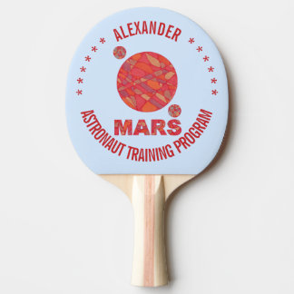 Mars The Red Planet Space Geek Solar System Fun Ping-Pong Paddle
