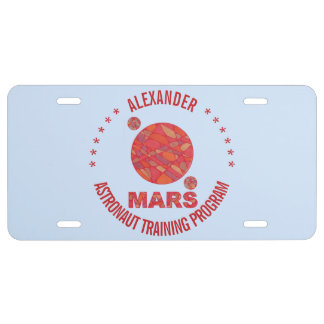 Mars The Red Planet Space Geek Solar System Fun License Plate