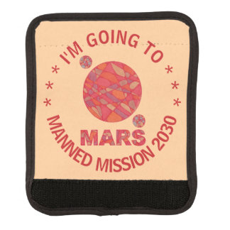Mars The Red Planet Space Geek Solar System Fun Luggage Handle Wrap