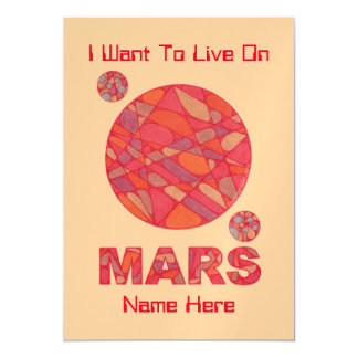 Mars The Red Planet Space Geek Solar System Fun Magnetic Invitations