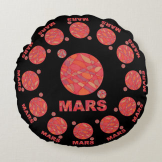 Mars The Red Planet Space Geek Solar System Fun Round Pillow