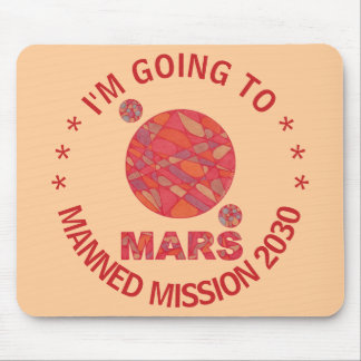 Mars The Red Planet Space Geek Solar System Fun Mouse Pad