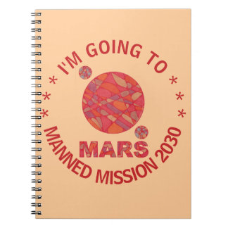 Mars The Red Planet Space Geek Solar System Fun Spiral Notebook