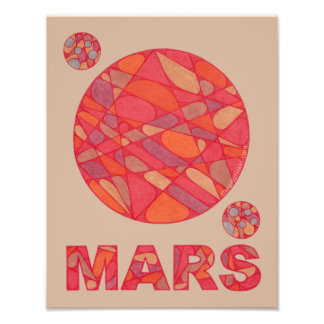 Mars The Red Planet Space Geek Solar System Fun Art Photo