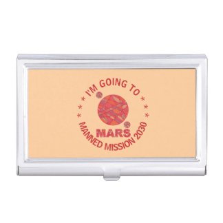 Mars The Red Planet Space Geek Solar System Fun Business Card Case