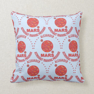 Mars The Red Planet Space Geek Solar System Fun Throw Pillow