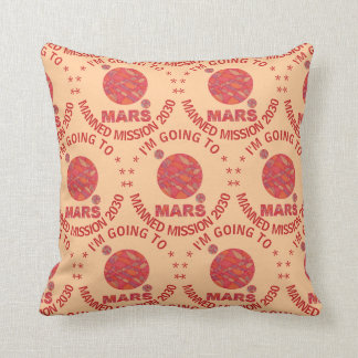 Mars The Red Planet Space Geek Solar System Fun Pillow